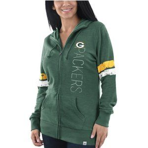Majestic PACKERS Full-Zip Hoodie NWOT